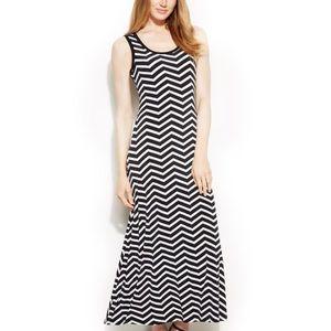 Calvin Klein Chevron Maxi dress